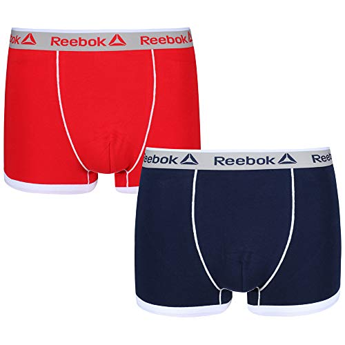 Reebok Mens Trunk Oliver 2-pack Navy/Primal Red