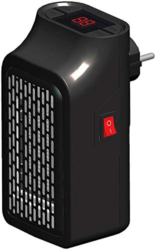 Sichler Haushaltsgeräte Steckdosenheizer: Mini-Steckdosen-Heizlüfter mit Timer, 2 Geschwindigkeits-Stufen, 350 W (Mini Steckdosenheizung)