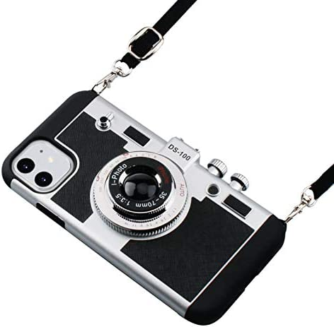 iPhone 11 Case Awsaccy 3D Cool Unique Cute Camera Design Case PC Silicone Cover Case with Long product image