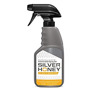 Absorbine Silver Honey Hot Spot & Wound Care Spray Gel Manuka Honey & MicroSilver BG Medicated Skin Care for Dogs Cats Small Animals 8oz Bottle