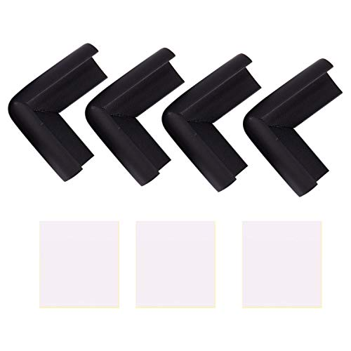 Fransande 4 fundas protectoras para mesa de escritorio, color negro