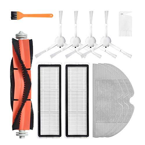 Filtro de cepillo lateral principal para fregar trapos de repuesto para Xiaomi Mijia 1C Aspiradora robot de barrido