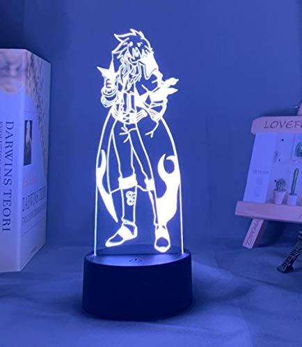 Lámpara de noche 3D ilusión de anime Gurren Lagann Simon guía luz nocturna para dormitorio decoración lámpara de noche tengen Toppa Gurren Lagann Regalo Acrílico Neon 3D lámpara MAOJIE
