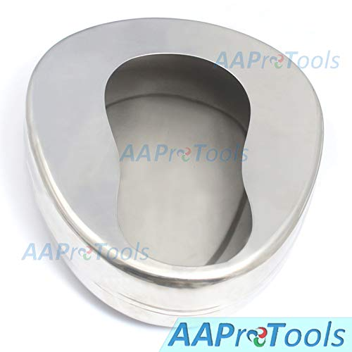 AAProTools Stainless Steel Bidet Bed Pans for Adult Elderly Horizontal Anatomically for Men Women Best Quality