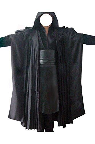 Fuman Darth Maul Tunic Robe Cosplay Kostüm Herren Schwarz XL