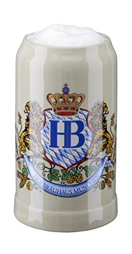 HB Hofbräuhaus München Boccale da Birra Tedesco Relief Monaco di Baviera Hofbräuhaus München HB 1 litro King Werk Ki 1000059