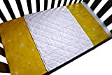 iLuvBamboo Baby Crib Waterproof Bamboo Sheet Saver - Soft Protector Cover Pad with Long Ties for Baby's Mattress. Enjoy Peace of Mind as Your Newborn Sleep - Larger Than Other Crib Pads (White)