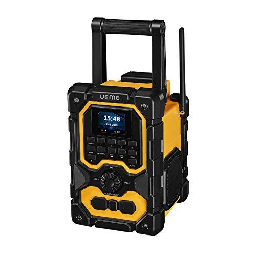 UEME 16W Rugged DAB/DAB+ FM Jobsite Wireless Bluetooth Radio