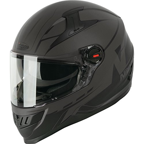 Nitro 187242XL35 Casco Integral Analog, Adultos Unisex, Gris Satinado/Negro, XL