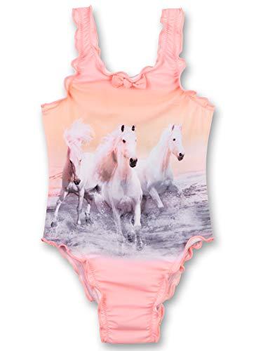 Sanetta Mädchen Badeanzug Pferde, Rose 430395 (98)