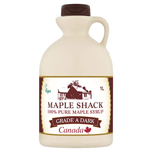 Maple Shack Pure Canadian Maple Syrup, Grade A Dark, 1 L