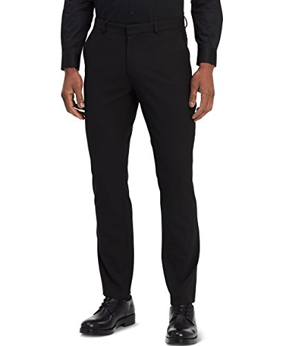 Calvin Klein Mens Slim Fit Solid Suit Separate Pants Infinite Stretch, Black, 36W x 34L