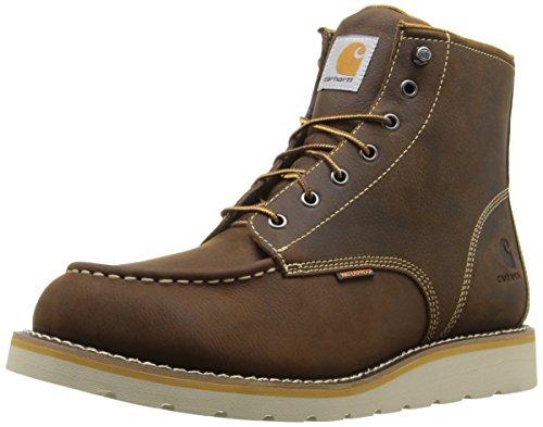 "Carhartt Men's 6"" Waterproof Moc Toe Casual Wedge Work Boot, Brown, 10.5 W US"