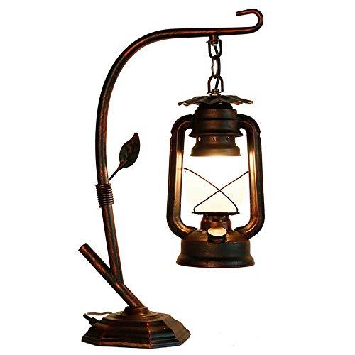 MAMINGBO Novedad Lámpara de escritorio Linterna de la vendimia Lámpara de keroseno de metal Retro Rusti Lámparas de mesa decoración Lámpara de noche para la sala de estar País Dormitorio