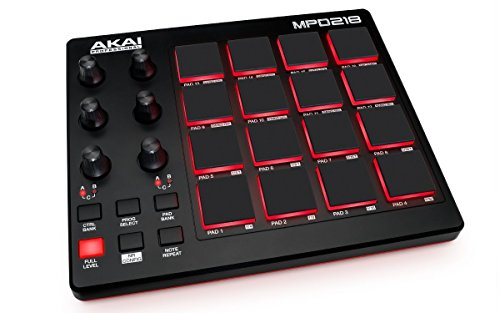 Akai Professional MPD 218 Professional - Controlador MIDI USB portátil con 16 pads MPC y potenciómetros para DAW, software Ableton Live Lite, Big Bang Cinematic Percussion y Universal Drums
