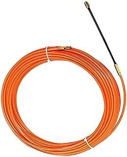 TOOGOO 4Mm 20 MèTres De Dispositif De Guidage Orange En Nylon De Cable éLectrique Push Pullers Duct Snake Rodder Fish Bande