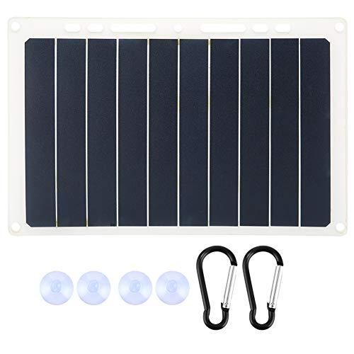 Luroze Cargador de Panel Solar, Soporte de Carga Solar, Grado es IP65, Panel de energía Solar, Cargador Solar USB, Panel Solar, para Cargador Solar Panel Solar