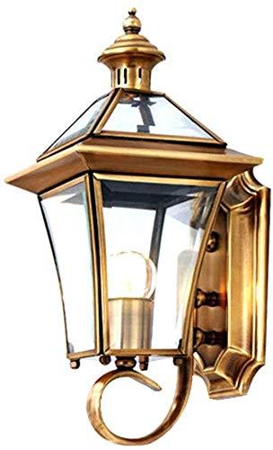 Beautiful Home Decoration lampen antieke retro wandlamp wandlamp outdoor waterdicht IP44 goud ijzer en glas wandlamp lampenkap E27 lantern House Design Stair lamp