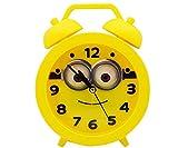 Asera Plastic Minion Cartoon Character Alarm Clock for Kids