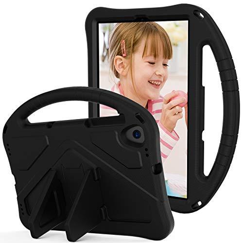 Tablet PC Tasche Für Kids Case für Samsung Galaxy Tab A 10.1 (2019) SM-T510 T515, für Kinder EVA Stoßfestes leichte dropfeste Stand-Tablet-Fall, mit großer Griff-robuster Schutzhülle ( Color : Black )