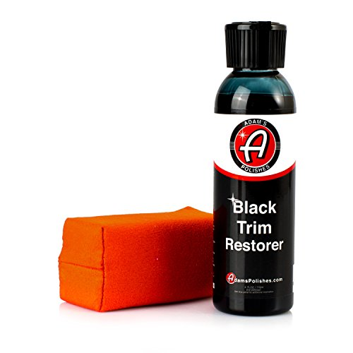 Adam's New Black Trim Restorer - Restores Plastic Trim to a Rich, Black Color with a Factory-New Appearance - Lasts Several Months per Treatment (4 oz with Applicator)