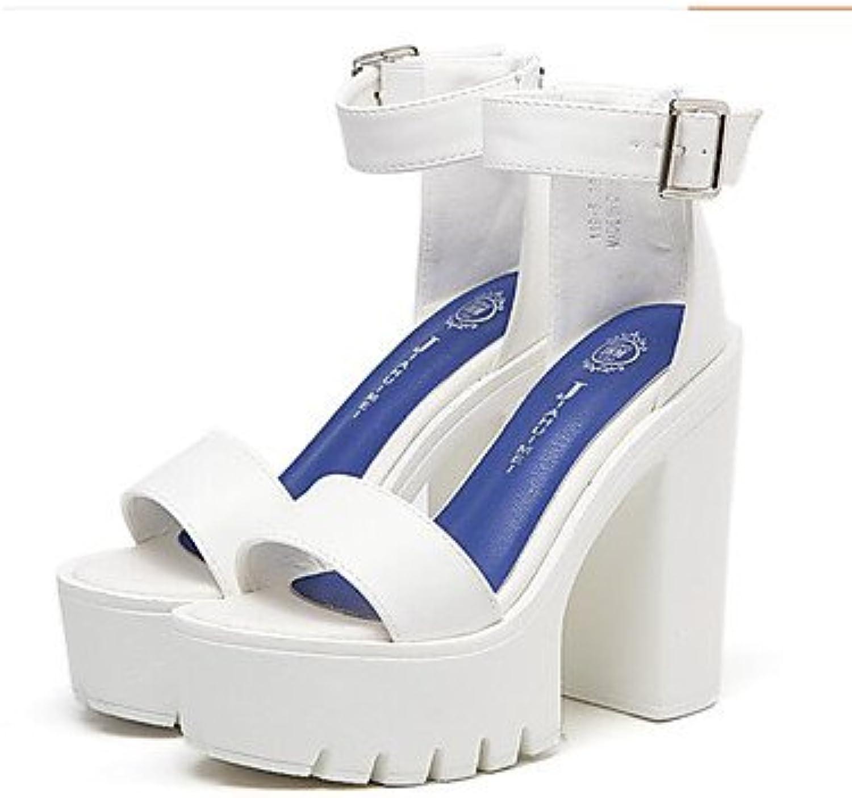 LvYuan-GGX Damen High Heels Komfort Nappaleder Frühling Normal Kleid Komfort Weiß Schwarz Flach, schwarz, us8.5   eu39   uk6.5   cn40