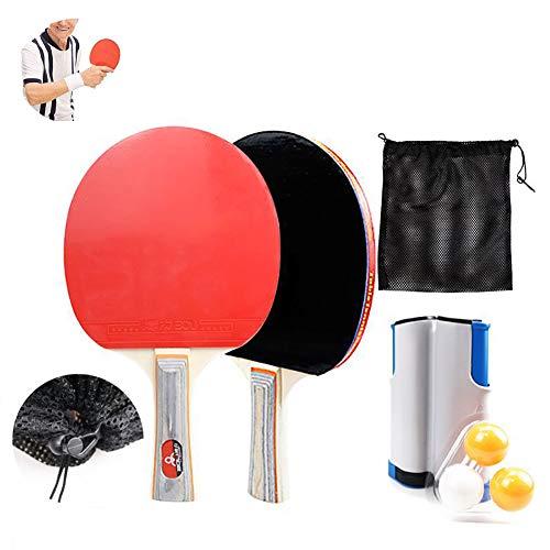 Yajun Raquetas De Ping Pong Juego De Paletas De Tenis De Mesa para Principiantes Accesorios De Entrenamiento Ejercicio Deportivo En Interiores para Niños Adultos