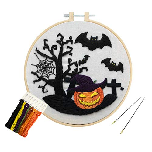 commercial Louise Meilis Halloween Stick Kit for Beginners Pumpkin Bat Cross Stitch DIY Adult Craft Kit cross stitch kits