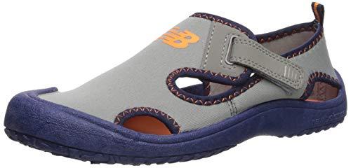 New Balance Baby Kid's Cruiser Sandal Sport, Grey/Navy, I10 M US Toddler