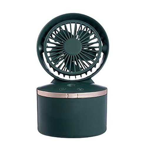 Wolfberrymetal Ventilador Enfriador de Aire, Ventilador Enfriador de Aire en Aerosol de Escritorio, Mini Ventiladores Humidificador, Ventilador humectante con Tanque de Agua, Ventilador silencios
