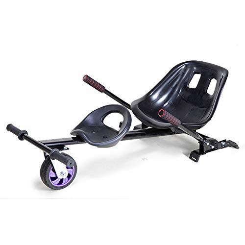 YAHAO Silla para Hoverboard Doble,Electrico Hover Kart Ajustable para Patinete Eléctrico Asiento...