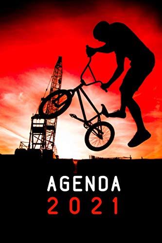 Agenda 2021: Diario Planner Calendario 12 mesi - 1 gennaio 2021 - 31 dicembre 2021 | Pianificatore Agenda Settimanale A5 |Idee Regalo Originali BMX