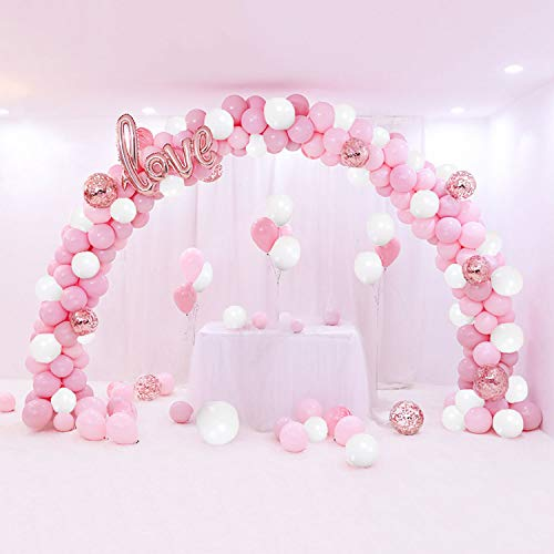 Yingzhou 110 Pieces Macaron Balloon Garland Kit Baby Shower Balloons Bachelorette Hen Party Backdrop(12 Inch 10 Inch 5 Inch)