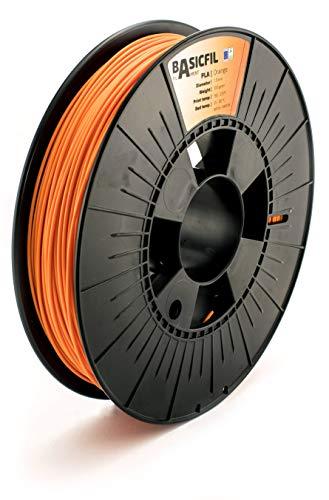 Basicfil PLA 1.75mm, 500 gr Filamento de Impresión 3D, Naranja