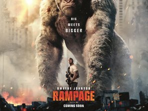 Import Posters Rampage – Dwayne Johnson – U.S Movie Wall Poster Print - 30CM X 43CM