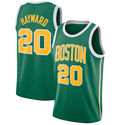 WSUN Camisetas De Baloncesto De La NBA - Camiseta NBA Gordon Hayward para Hombre 20# Boston Celtics - Camiseta Deportiva De Baloncesto Sin Mangas Transpirable De Ocio,B,L(175~180CM/75~85KG)