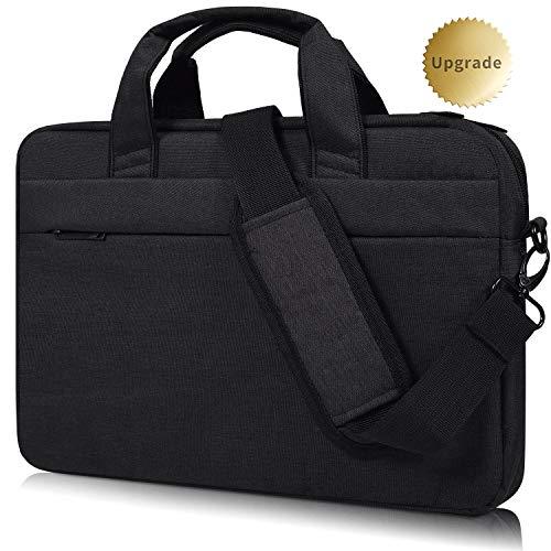 CaseBuy 17.3 Inch Laptop Shoulder Bag Compatible Acer Aspire V17 /E 17/ Predator 17 | HP ENVY 17 17t/ OMEN 17 | Inspiron 17 | ASUS VivoBook Pro | ASUS ROG, Waterproof Shockproof Travel Bag, Black