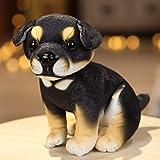 Anyinghh 18CM Creatividad Lindo Perro Juguetes de Peluche Encantador Husky Akita Rottweiler Animal Perro muñecas Peluches de Peluche para niños 8