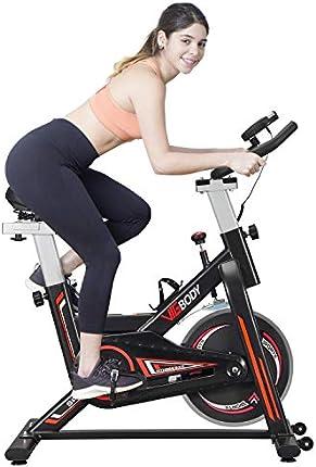 VIGBODY Bicicleta estática para bicicleta de ejercicio de bicicleta para interior Ciclismo bicicleta para el hogar cardiovascular entrenamiento bicicleta resistente volante Bicicletas