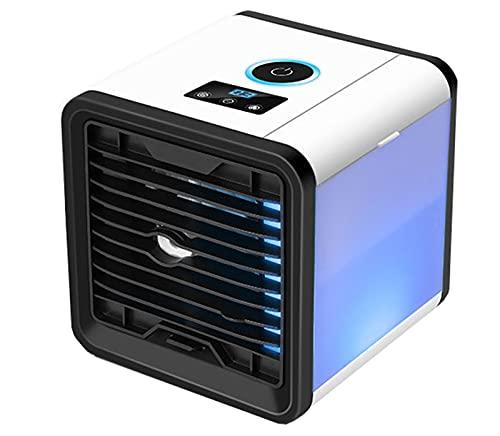sZeao Mini Aire Acondicionado Enfriador De Aire Humidificador Ventilador Purificador con Tanque De Agua De 600 Ml Gran Angular De 60 ° Y 3 Velocidades para Hogar, Dormitorio, Oficina