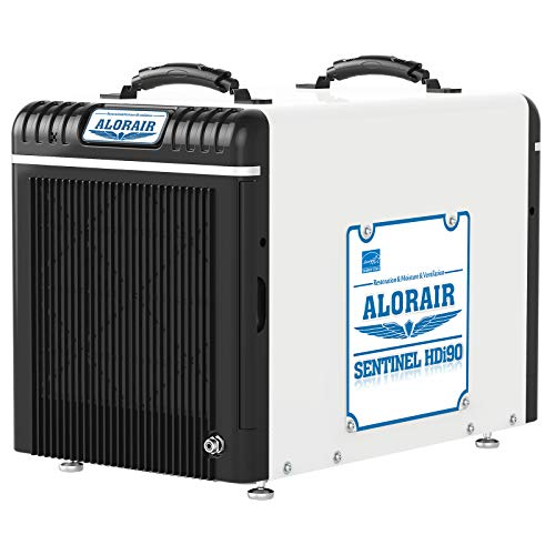 ALORAIR Basement/Crawlspace Dehumidifiers 198 PPD (Saturation), 90 Pints (AHAM), 5 Years Warranty, Condensate Pump, Auto Defrosting, Rare Earth Alloy Tube Evaporator, Remote Control (optional)