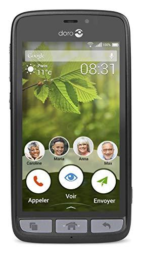 Doro 8031 Smartphone débloqué 4G (Ecran : 4,5 pouces - 8 Go - Micro-SIM - Android) Graphite