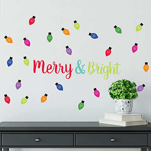 Paper Riot Co. Holiday Merry and Bright Peel and Stick Wall Decals