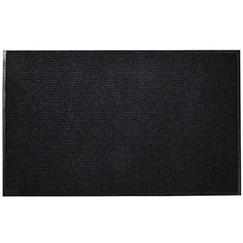 vidaXL Alfombra de Entrada Antideslizante PVC Negra 90x150 cm Felpudo Entrada