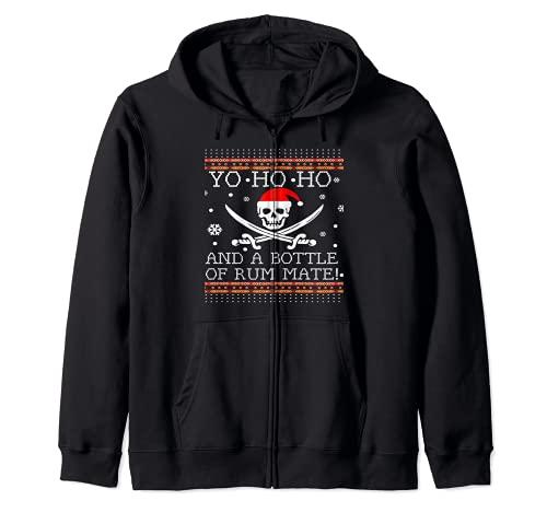 Yo Ho Ho y una botella de ron pirata feo suéter de...