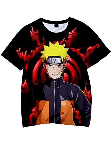 Bambini Manica Corta Stampata in Naruto Maglia Estate Tees Camicetta Tops Casuale T-Shirt Elegante...