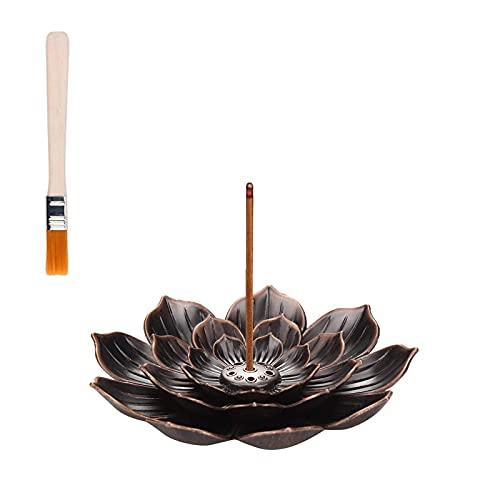 NDKLPHON Lotus Incense Holder- Lotus Censer Stick Incense Holder Cone Incense Burner Ash Catcher...