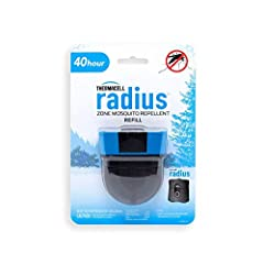 Dependable Mosquito Repellent Refills – Fully sealed, travel friendly Radius Zone Mosquito Repellent Refills are compatible with rechargeable Thermacell Radius devices only 40 Hours of Protection – Radius refill cartridge offers 40 hours of active mo...