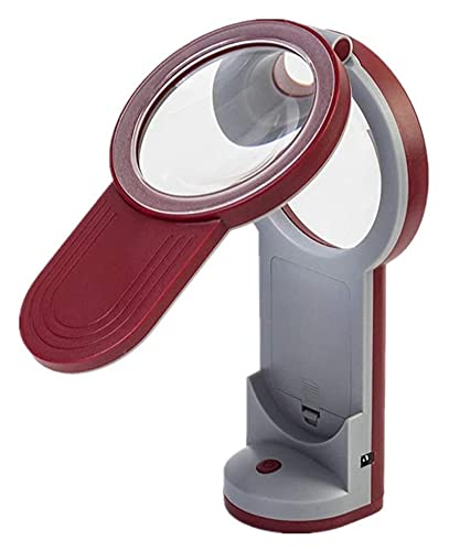 lupa para leer Lupa, lupa con lente HD ligera. 3X 6X 4.5X Portátil Portátil Plegable Iluminado Magnifier Manos de escritorio Lámpara de mesa libre para ancianos Readición Reparación Joyería Monedas Se