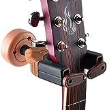Soporte de pared para guitarra,Percha de pared para guitarra con bloqueo automático,Perchas para ukelele para todas las guitarras Diseño de aspecto de madera de violonchelo para violonchelo,3 piezas